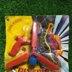 Brinquedos antigos: ANTIGUO BLISTER SPITERMAN VOLADOR JUGUETES JUYPAL IBI ESPAÑA REF.508 AÑOS 70. Lote 221089961