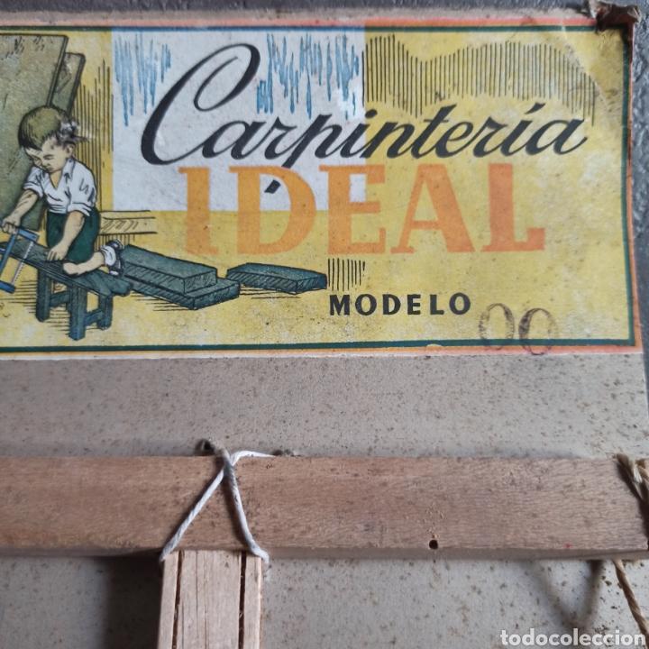 Juguetes antiguos: Carpintería Ideal modelo 0 Juguete en su blister - Foto 2 - 221700986