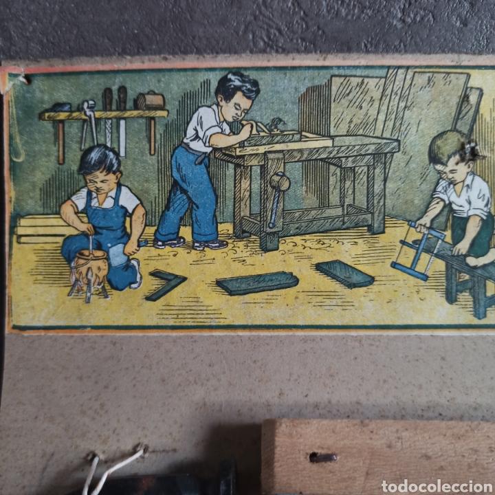 Juguetes antiguos: Carpintería Ideal modelo 0 Juguete en su blister - Foto 3 - 221700986