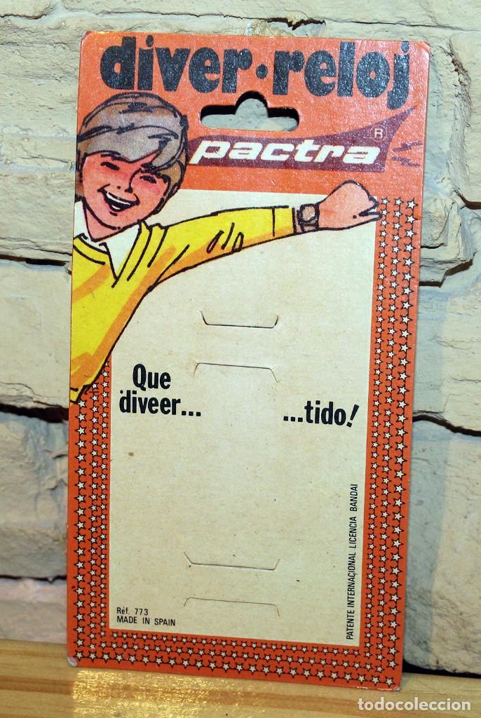 ANTIGUO CARTÓN DIVER RELOJ, DE PACTRA - AÑOS 70 (Juguetes - Marcas Clasicas - Otras Marcas)