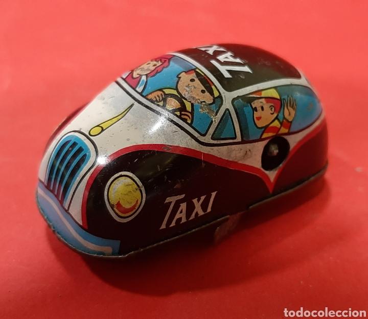 Juguetes antiguos: Overland traffic game. Locomotora-taxi a cuerda. Años 60. Funciona correctamente. - Foto 5 - 47441662