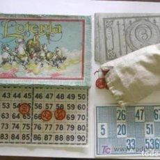 Juguetes antiguos: LOTERIA AGAPITO BORRAS AÑOS 30, COMPLETA. Lote 225698160
