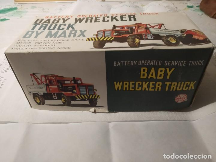 Juguetes antiguos: Baby wrecker truck/ años 60 Marx Truck battery operated - Foto 7 - 227918710