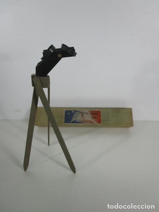 Juguetes antiguos: Caja Anteojo Astronómico - con Trípode en Madera - Foto 6 - 228003650