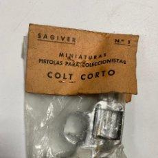 Juguetes antiguos: PISTOLA METALICA DE JUEGUETE SAGIVER. MODELO COLT CORTO. Nº 1. VER FOTOS. Lote 232268790