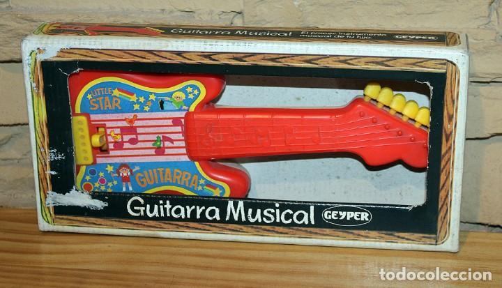 ANTIGUA GUITARRA MUSICAL, DE GEYPER - NUEVA Y EN SU CAJA ORIGINAL - AÑOS 80 - REF. 1540 (Juguetes - Marcas Clasicas - Otras Marcas)