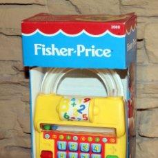 Juguetes antiguos: FISHER PRICE - CALCULADORA CON CUENTAS - NUEVA Y EN SU CAJA ORIGINAL - AÑO 1992. Lote 237513865