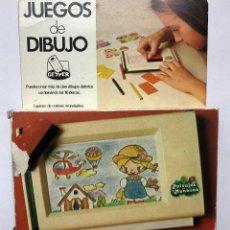 Giocattoli antichi: JUEGOS DE DIBUJO GEYPER COMPLETO. PAISAJES Y MUÑECAS. Lote 238270200