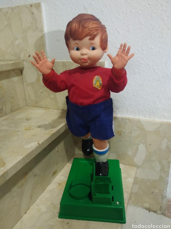 Juguetes antiguos: Antiguo muñeco futbolista GEYPER GOL de los 70 selección española - Foto 6 - 238311735