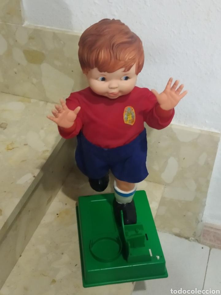 Juguetes antiguos: Antiguo muñeco futbolista GEYPER GOL de los 70 selección española - Foto 8 - 238311735