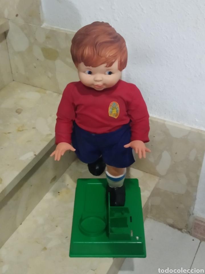 Juguetes antiguos: Antiguo muñeco futbolista GEYPER GOL de los 70 selección española - Foto 9 - 238311735