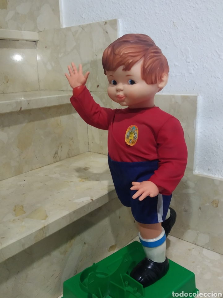 Juguetes antiguos: Antiguo muñeco futbolista GEYPER GOL de los 70 selección española - Foto 20 - 238311735