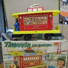 Brinquedos antigos: TRANVIA SAN FRANCISCO - CON LA CAJA ORIGINAL - NACORAL. Lote 241657655