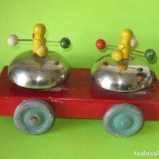 Brinquedos antigos: DENIA JUGUETE MUSICAL DE ARRASTRE, PINTURA ORIGINAL. Lote 241878735