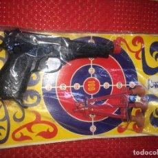 Brinquedos antigos: PISTOLA POLICIA LANZA VENTOSAS - GONZALEZ - GONHER - IBI ( ALICANTE ) - NUEVA EN SU BLISTER. Lote 242945640