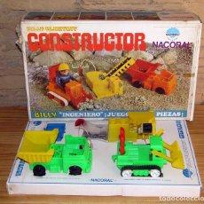 Brinquedos antigos: NACORAL - CONSTRUCTOR - BILLY BLASTOFF - EN SU CAJA ORIGINAL - INCOMPLETO. Lote 242957220