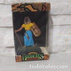 Juguetes antiguos: FIGURAS HISTORICAS GUERRERO EGIPCIO CON LANZA Y ESCUDO DE JUGUETES PUCHOL. Lote 244946710