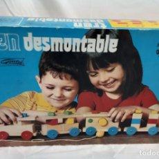 Juguetes antiguos: TREN DESMONTABLE GOULA. Lote 245104275
