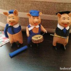 Juguetes antiguos: SHUCO LOS TRES CERDITOS THE THREE LITTLE PIGS SCHUCO DIE DREI KLEINEN SCHWEINE. Lote 251966805