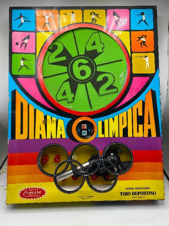 DIANA OLIMPICA TIRO DEPORTIVO DE LEMSSA. CON REVOLVER PISTOLA. AÑOS 60 (Juguetes - Marcas Clasicas - Otras Marcas)