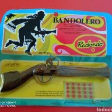 Juguetes antiguos: TRABUCO BANDOLERO (18 CM). MINIATURAS METÁLICAS REDONDO 70S.SIN ABRIR.. Lote 255339645