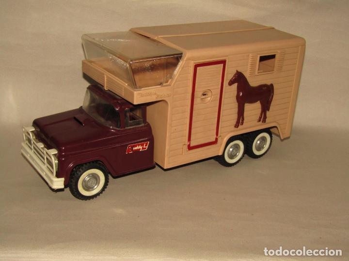 Juguetes antiguos: Antigua Camioneta Gran Tamaño Transporte de Caballos Establo de BUDDY L - Made in USA - Año 1960s. - Foto 10 - 263180315