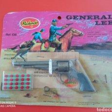 Brinquedos antigos: PISTOLA REVÓLVER GENERAL LEE (13 CM). MINIATURAS METÁLICAS REDONDO 70S.SIN ABRIR.. Lote 266157303