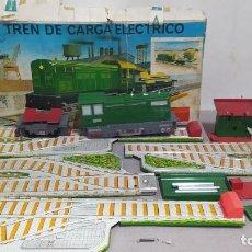 Juguetes antiguos: TREN DE CARGA ELÉCTRICO N° 506 COMANDO CON CAJA EN BUEN ESTADO. Lote 268586049