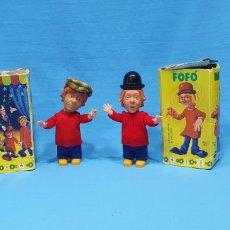 Brinquedos antigos: LOS PAYASOS DE LA TELE - MILIKI Y FOFITO A CUERDA EN SU CAJA - MI. Lote 269228803