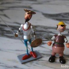 Juguetes antiguos: FIGURAS DE MADERA - DON QUIJOTE Y SANCHO PANZA - GOULA. Lote 270204308
