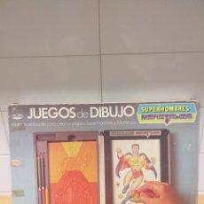 Jouets Anciens: GEYPER REF.540 SUPERHOMBRES Y MONSTRUOS JUEGOS DE DIBUJO, DIFÍCIL Y RARA. Lote 270669448