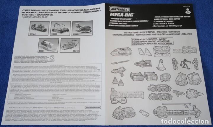 Juguetes antiguos: Mega-Rig - Base Espacial con motor - Laboratorio Orbital - Matchbox - Mattel (1998) - Foto 8 - 271660543