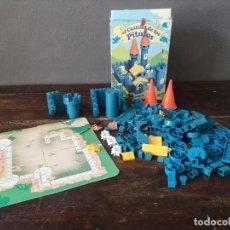 Giocattoli antichi: CASTILLO DE LOS PITUFOS DE EXIN COMPLETO CON CAJA ORIGINAL FABRICADO EN ESPAÑA 1983. Lote 275945518