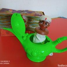 Brinquedos antigos: LÁMPARA MARAVILLOSA DE ALADINO (14,5 CM).PSE SANTA ELENA 70S.NUEVO EN CAJA.. Lote 276383348