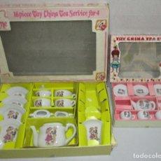 Juguetes antiguos: 2 ANTIGUOS JUEGOS DE TÉ TOY CHINA TEA SET SERVICE, MADE IN JAPAN. Lote 39967142