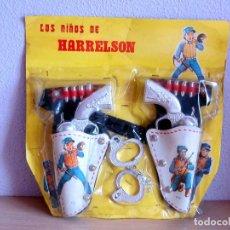 Juguetes antiguos: LOS NIÑOS DE HARRELSON, EN SU BLISTER A ESTRENAR DOBLE CARTUCHERAS Y ESPOSAS. Lote 283170638