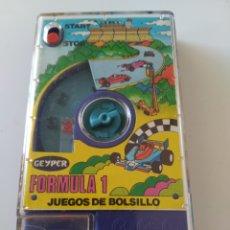 Juguetes antiguos: FORMULA 1 JUEGOS DE BOLSILLO GEYPER. AÑOS 70 O 80. FUNCIONANDO. Lote 293187043