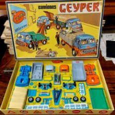 Juguetes antiguos: GEYPER REF: 502 - MONTAJE EN CADENA DE CAMIONES.. Lote 294145368