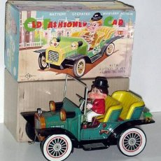 Juguetes antiguos de hojalata: RARO COCHE DE HOJALATA LITOGRAFIADO JAPON . Lote 26947830