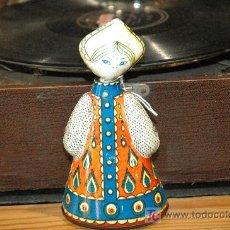 Juguetes antiguos de hojalata: INTERESANTE BAILARINA DE RUSIA, DE HOJALATA A CUERDA. Lote 27155872