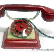 Juguetes antiguos de hojalata: TELEFONO HOJALATA RICO AÑOS 40. Lote 4259425