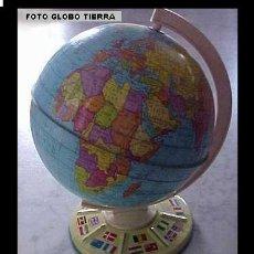 Juguetes antiguos de hojalata: GLOBO TERRÁQUEO MAPA MUNDI BOLA DEL MUNDO ESFERA MUNDIAL. Lote 26425298