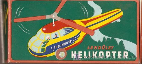 Juguetes antiguos de hojalata: Helicoptero - Foto 2 - 26573889