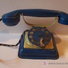 Juguetes antiguos de hojalata: TELEFONO DE RICO AÑOS 40-50. Lote 27105261