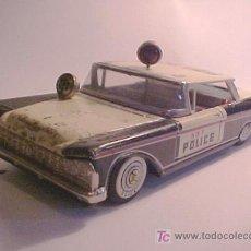 Juguetes antiguos de hojalata: COCHE POLICIÁ HOJALATA TIN TOY AMERICAN POLICE CAR. Lote 27065557