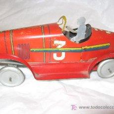 Juguetes antiguos de hojalata - Coche de carreras SIF. Francia , años 40. - 27368562