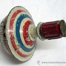 Juguetes antiguos de hojalata: PEONZA TROMPO HOJALATA PAYA AÑOS 20. Lote 10587515