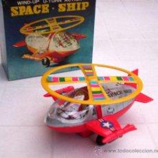 Juguetes antiguos de hojalata: SPACE SHIP: ANTIGUA NAVE ESPACIAL C/ CDA. - NUEVA ! (MEDIADOS DE LOS AÑOS 70). Lote 9326124