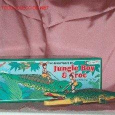 Juguetes antiguos de hojalata: COCODRILO HOJA DE LATA. Lote 25643027