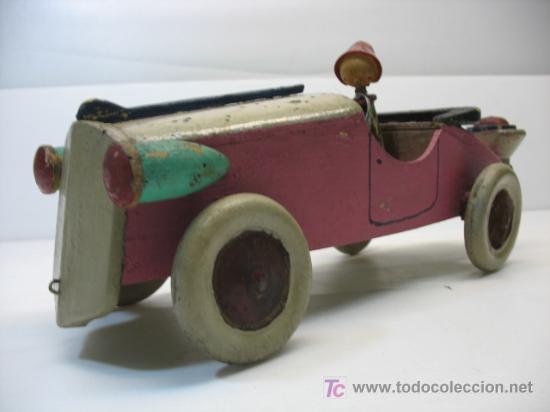 Precioso coche gasogeno de madera denia comprar juguetes - Juguetes antiguos de madera ...